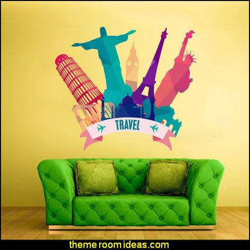 Travel Wall Decal  Mural Sticker Art Decor