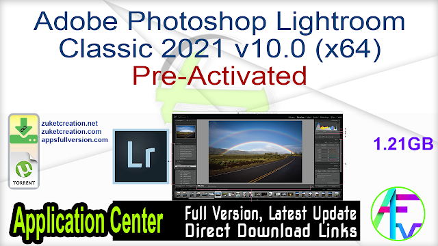 Adobe Photoshop Lightroom Classic 2021 v10.0 (x64) Pre-Activated