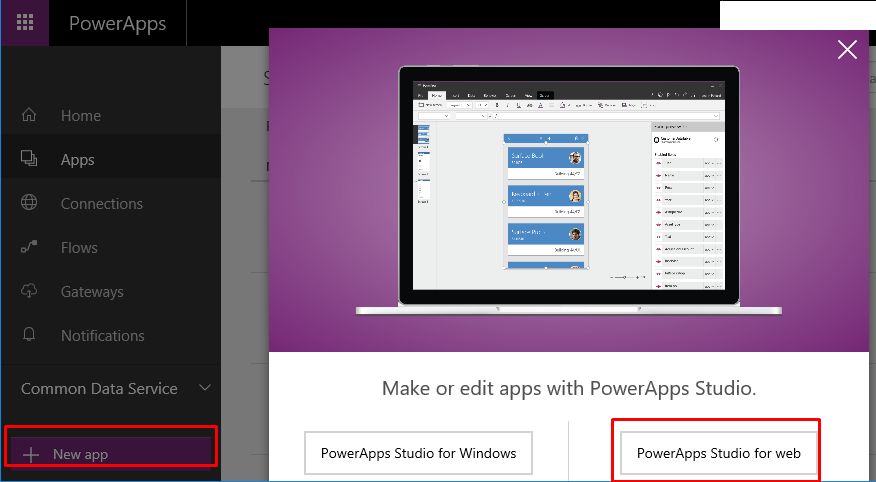 Microsoft PowerApps with AX Dynamics 365 for Operations
