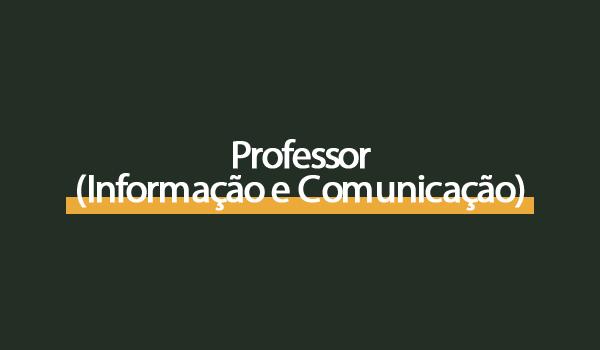 Prova Concurso Professor (Informação e Comunicação) com Gabarito