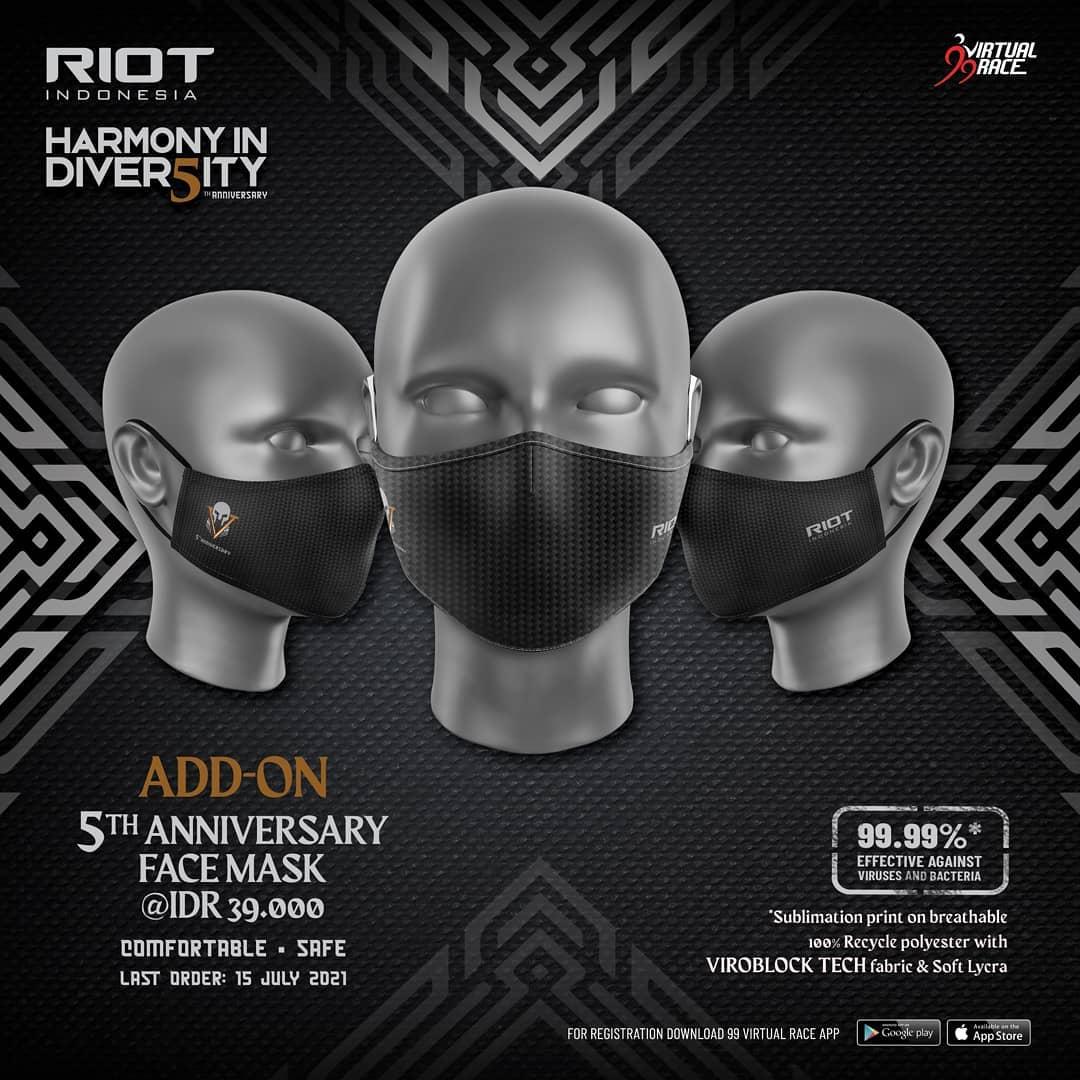 Masker 😷 RIOT 5th Anniversary Virtual Run • 2021