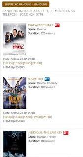 Tiket Cinema XXI 5