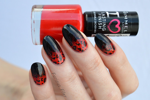valentines day nails gradient leopard print stamp moyou