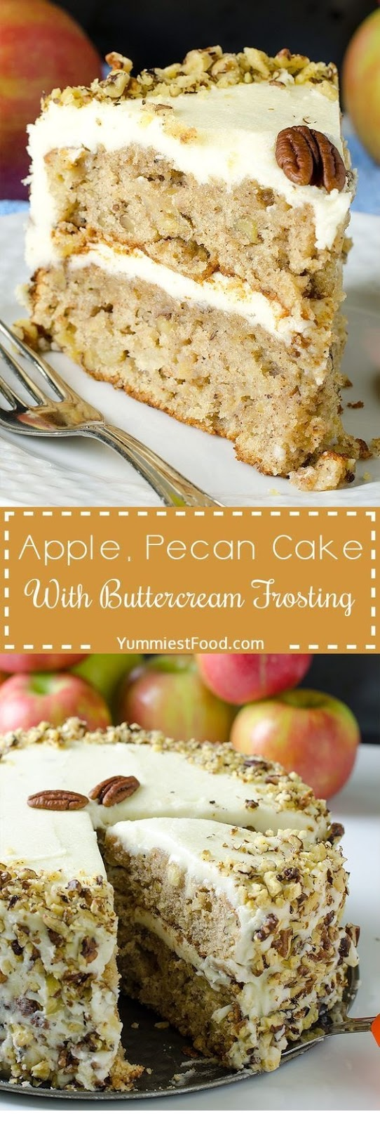 Apple, Pecan Cake With Buttercream Frosting Recipe