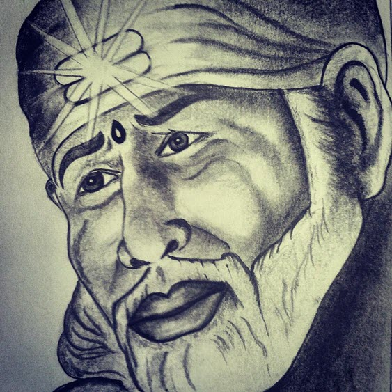 Sai Baba Wallpaper HD Painting