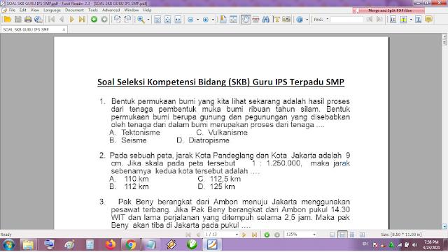 Contoh soal tes P3K/PPPK guru IPS SMP dan kunci jawaban