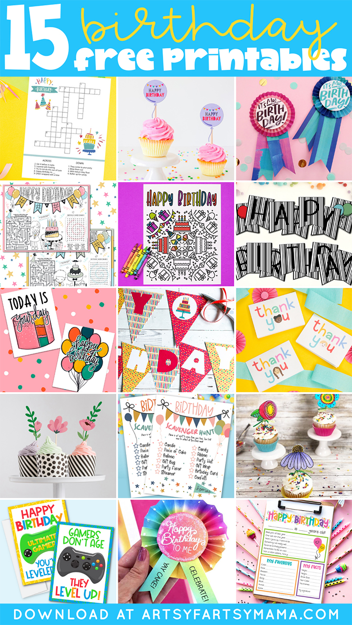 15 Free Birthday Party Printables