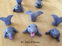 Fondant Dolphins for cake