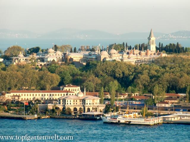 Topkapi-Palast und Goldenes Horn in Istanbul - Topfgartenwelt