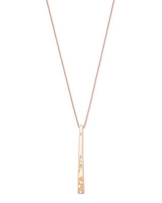 Kendra Scott Zorte Long Pendant Necklace in Rose Gold