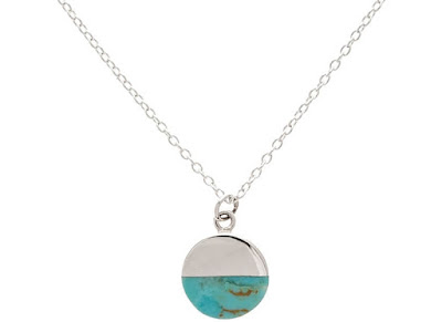 Oliver Bonas - Silver Lyca Turquoise Circle Necklace - Jewellery Curated Blog