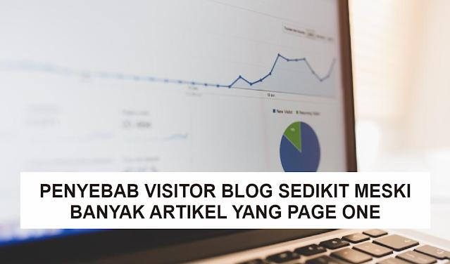 3 Penyebab Visitor Blog Sedikit Meskipun Banyak Artikel yang Page One