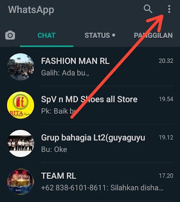 Cara menyembunyikan Terakhir Terlihat id WhatsApp