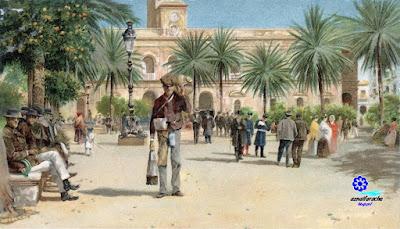 Sevilla - La plaza de San Fernando en un día de invierno - 1900