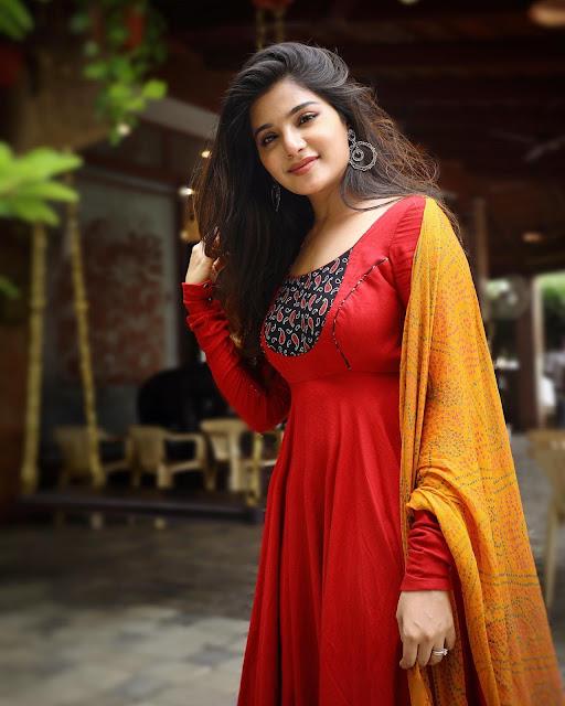 Actress Aathmika Latest Photos in Churidar Actress Trend