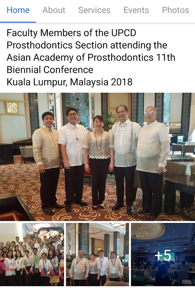 Prosthodontics Section Faculty Members at the Asian Academy of Prosthodontics 11th Biennial Conference