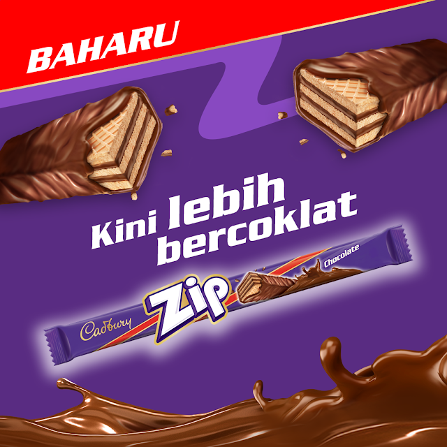 Cadbury Malaysia Zipping into More Chocolate and Better Wafer With All-New Cadbury Zip