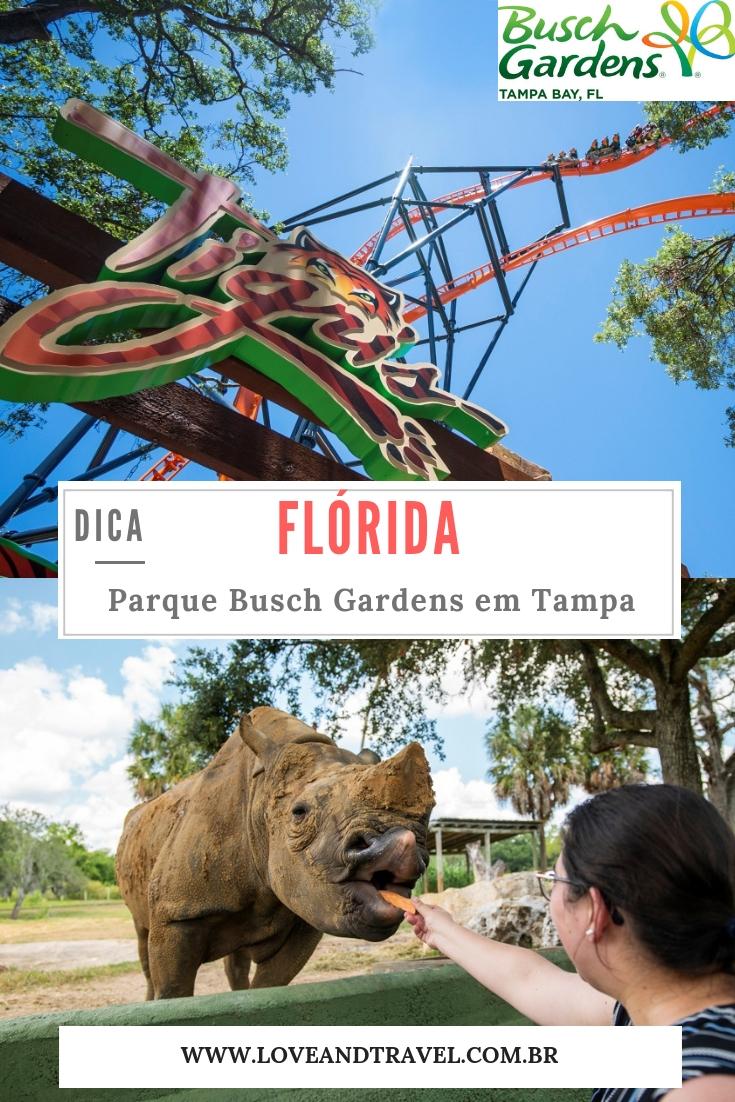 Parque Busch Gardens na Flórida