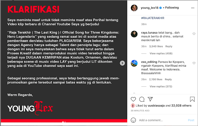 young lex klarifikasi video plagiat