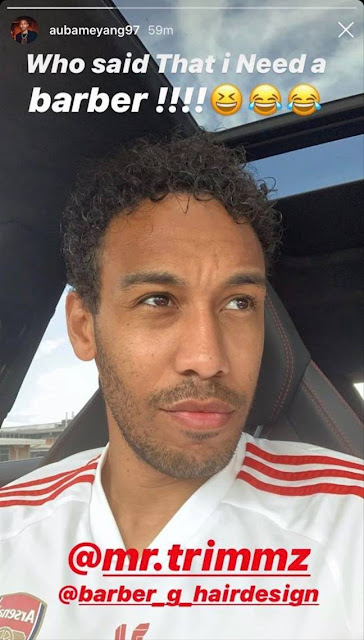 patrick aubameyang haircut quarantine haircut
