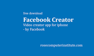 Facebook Video Creator app for iphone free download