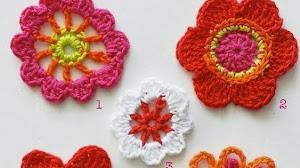 5 esquemas de flores crochet