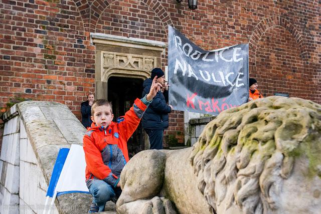 Reforma edukacji, protest, demonstracja, rodzice na ulice, Krakow