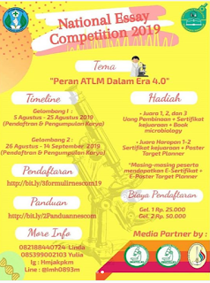 National Essay Competition 2019 HIMA Analis Kesehatan Poltekkes Makassar