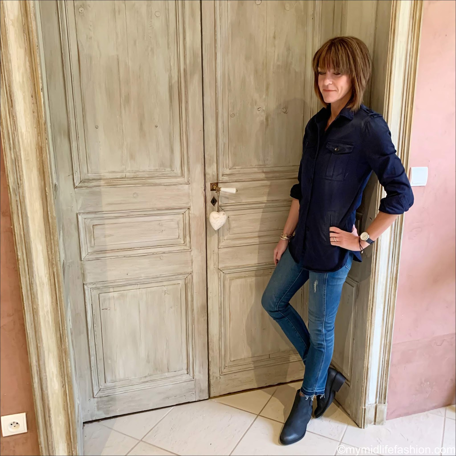 my midlife fashion, Isabel Marant Etoile overskirt, j crew cropped skinny jeans, val dal Barlow II ankle boots