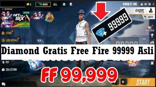 Diamond Gratis Free Fire 99999 Asli