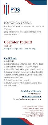 Lowongan Kerja Pelindo Daya Sejahtera Sebagai Operator Forklift