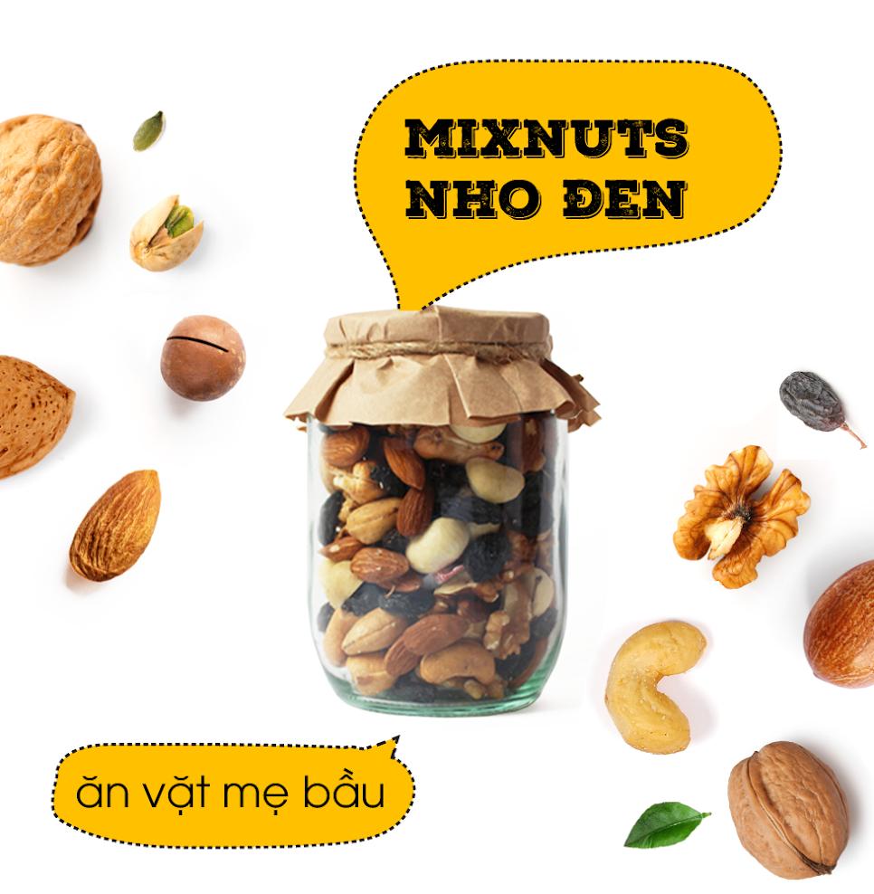 Mixfruits ăn vặt cho thai nhi thông minh