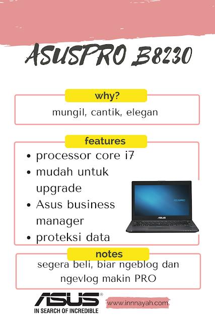 spesifikasi dan keunggulan Asuspro B8230, Asuspro B8230, intel core i3, intel core i5, intel core i7, konten blog kreatif, menulis blog kreatif