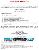 Lowongan Pekerjaan Surabaya Terbaru di BPRS Annisa Mukti (Wiradhana Group) November 2019