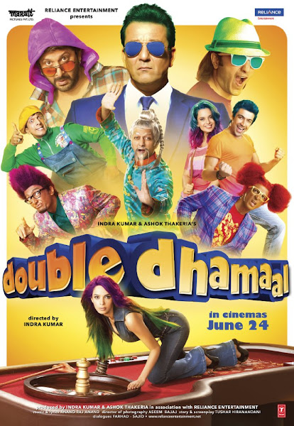 Poster Of Double Dhamaal 2011 720p Hindi BRRip Full Movie Download