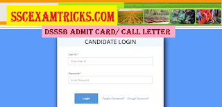 DSSSB Forest Guard Admit Card