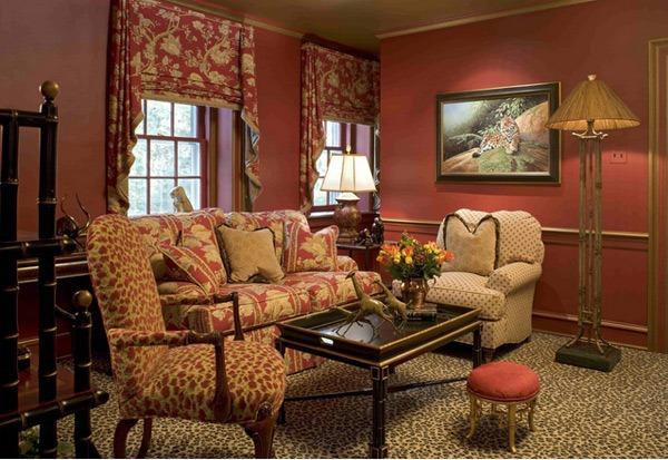 Ruang Tamu Cantik Dengan Pola Warna-Warni