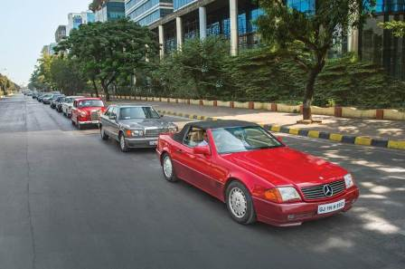 Classic cars to march to celebrate Mercedes 25 years