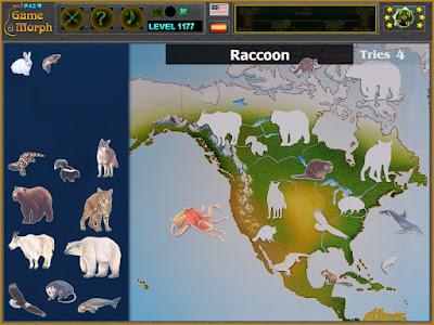 Животните на Северна Америка Пъзел