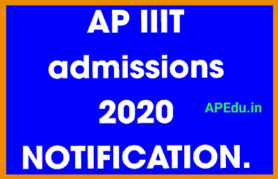 AP RGUKT IIIT Admissions 2020 Entrance / Selection Test Notification Exam Syllabus.