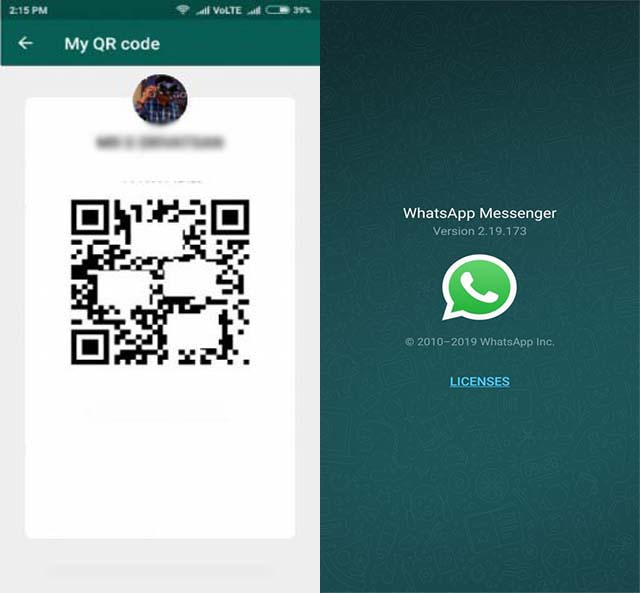 Menambahkan kontak dengan QR Code - Fitur Baru WhatsApp Messenger yang masih dalam tahap beta