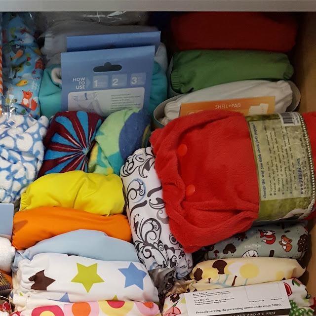 cloth diaper stash pic, huge cloth diaper stash, cloth diaper hoarder, hoarding cloth diapers, cloth diaper addiction in pictures