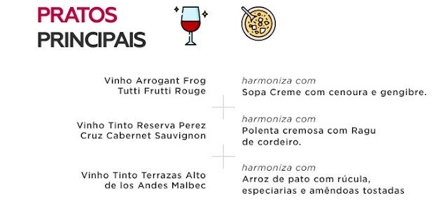 Conheça os tipos de vinhos ideais pra acompanhar o prato principal