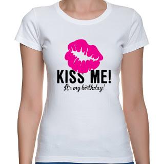 Koszulka Kiss me it's my birthday