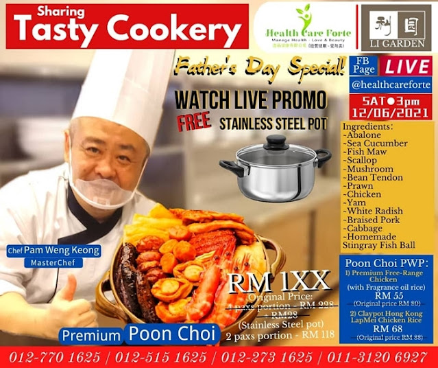 Review Premium Poon Choi, Health Care Forte, Father's Day Special, Food, FB Live Cookery, Cooking Demo, Poon Choi, Chinese Traditional Dish