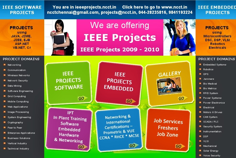 IEEE FINAL YEAR PROJECT TOPICS @ NCCT, www ncct in, 044