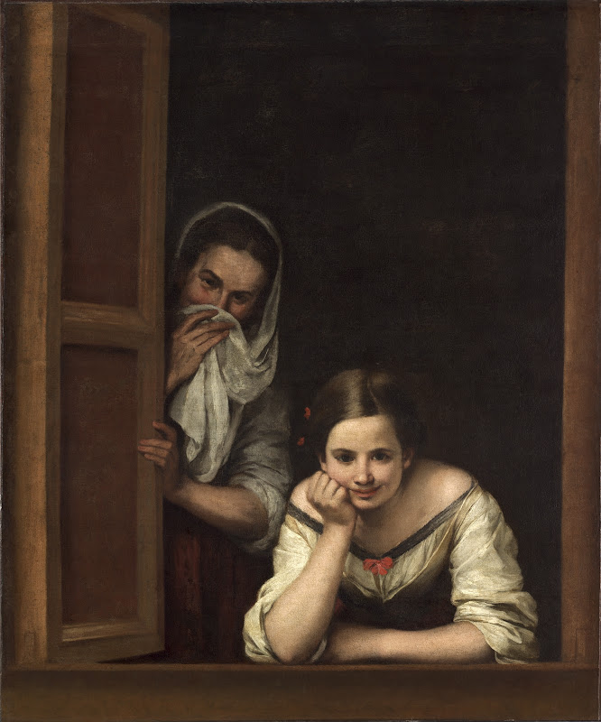 Bartolome Esteban Murillo - Two Women at a Window 1665