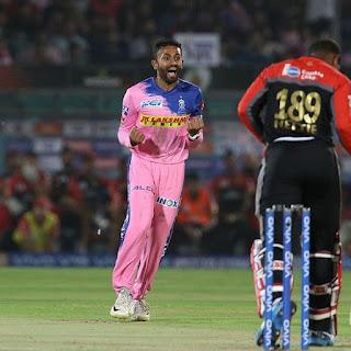 श्रेयस गोपाल को आरसीबी के खिलाफ शानदार गेंदबाजी के लिए मैन ऑफ द मैच चुना गया