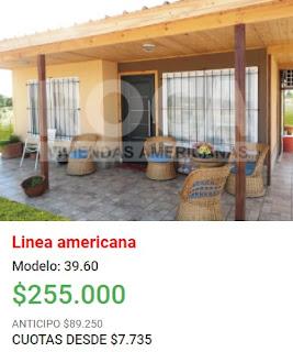 Viviendas Roca precios 2018 linea americana modelo 39 60