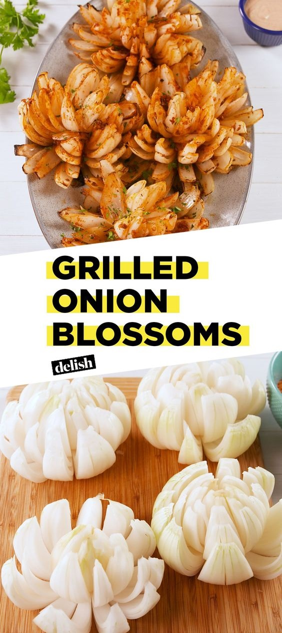 Grilled Onion Blossoms